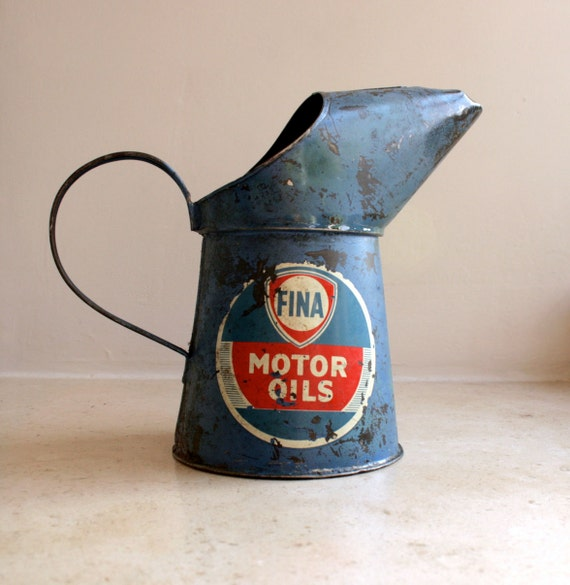 Rare fina motor oil pint pourer can jug by gennamaria on etsy for What weight motor oil should i use