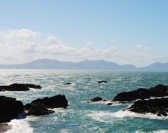 Rocks in the sea, original signed Fine Art photo giclee print, Photography print, Wall art print