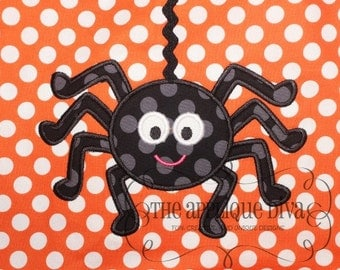 Halloween Daddy Long Legs Spider Digital Embroidery Design Machine Applique