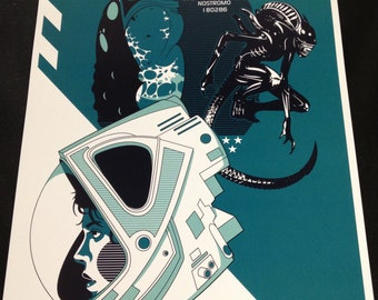 Alien movie poster print