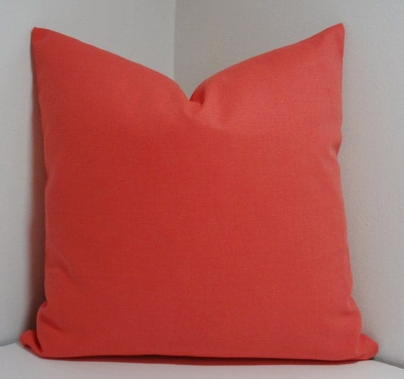 Solid Decorative Throw Pillows : Solid Coral Decorative Pillow Cover Throw Pillow All by HomeLiving