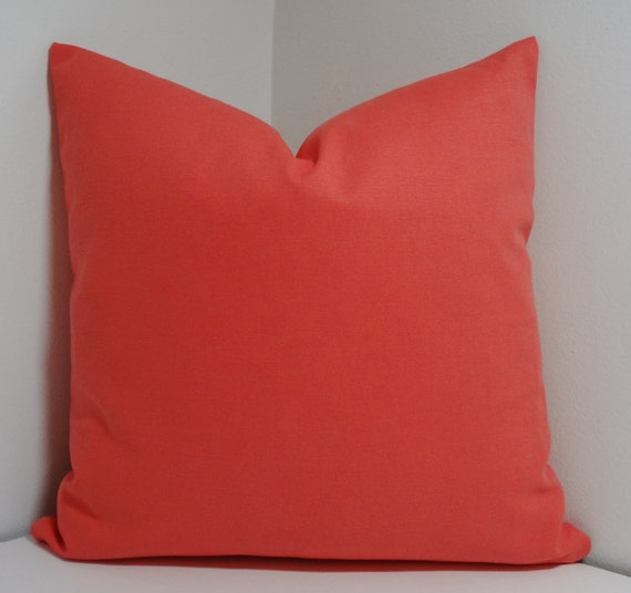 Solid Coral Throw Pillows : Solid Coral Decorative Pillow Cover Throw Pillow All by HomeLiving
