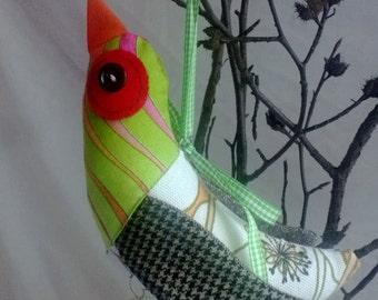 Recycled Fabric Bird, Tweedie Bird