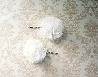 Chic Lace Flower Hair Pin