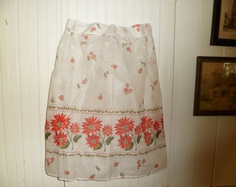 Vintage Holiday Hostess Apron , Never Used , 1960's, New Old Stock