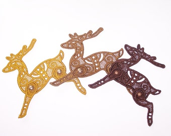 Lace Reindeer-- Articulated--You pose the legs