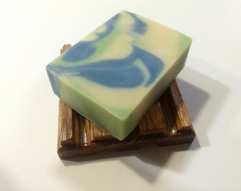 Peppermint and Spearmint Cold Process Soap/ Natural Handmade Soap/ Valley Mint