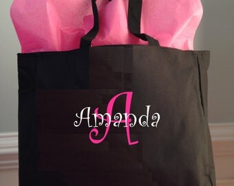 12 Personalized Monogrammed Tote Bags