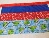 Classroom Apron- Toads (red & blue)
