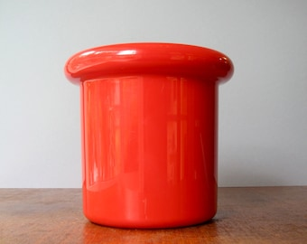 Vintage Mod Red Plastic Space Age Ice Bucket - Decor Australia