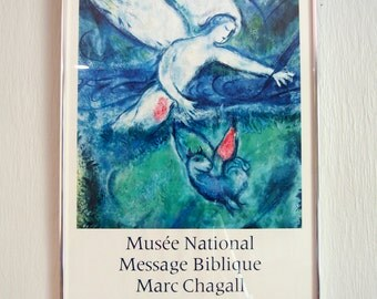 Vintage Chagall National Museum Exhibition Poster