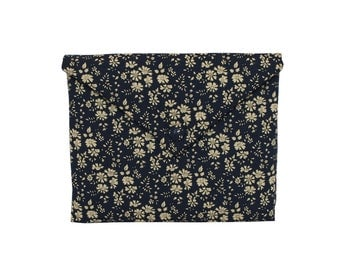 Floral navy Liberty printed fabric Capel - iPad sleeve padded, iPad cover, iPad case