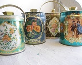 Collection Of English Candy or Biscuit Tins