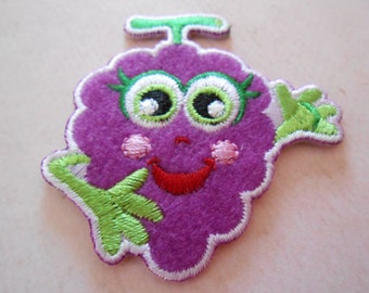 Iron -on Embroidered  Baby Grape Set of 2
