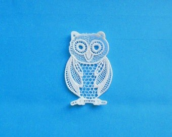 Lace Applique for Crafts or Crazy Quilt - Owl III