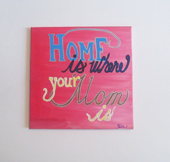 Mom Quotes Canvas Quotes Art Gift For Mother Quotes On