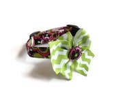 Vera Floral Dog Collar size Extra Small