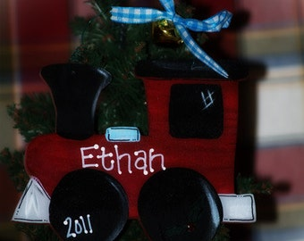 Train Personalized Christmas Ornament Child Name Trains
