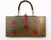 """Enid Collins of Texas """"Lucky Lady Bugs"""" Box Bag"""
