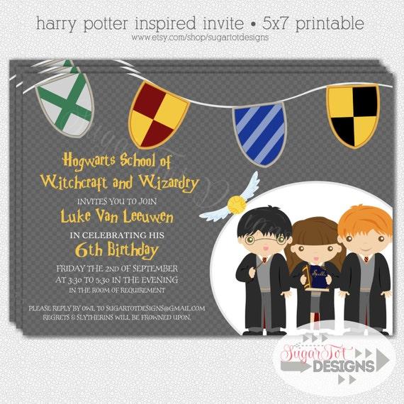 harry potter birthday invitation template as adorable invitation design - Harry Potter Party Invitations