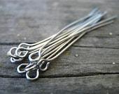50 Stainless Steel Eye Pins 4cm