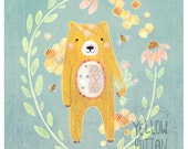 Honey Bear 8.5 x 11 Print