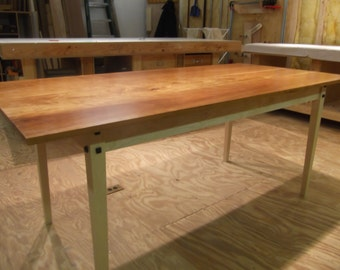 cherry and curly maple kitchen table - Maple Kitchen Table