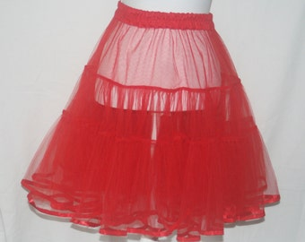 Red Petticoat Underskirt Medium Volume
