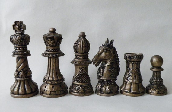 chess moulds Latex set