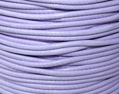 3 Yards - 1mm LILAC Purple KOREA Waxed Cotton Cord - 9 Feet Round Cotton Wax Cord - Beading Stringing Cord - Instant Ship - USA Seller
