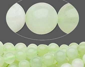 12 SEA Green new JADE 8mm Round - C Grade Natural Sea Green New Jade Smooth Stone Bead - USA Wholesale Beads -  Instant Ship  - 5284