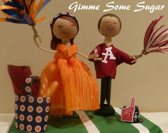 Game Day Wedding Cake Topper