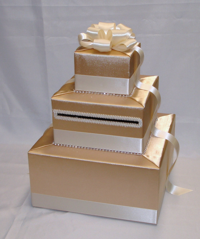 Elegant Wedding Card Box-Gold and Ivory by ExoticWeddingBoxes