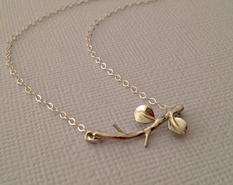 Branch Necklace in Sterling Silver -Silver Branch Necklace -Nature Necklace