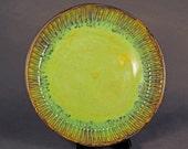 Ceramic Pottery Serving Plate, Ceramic Platter, Opal Green Glaze Plate