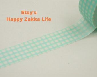 Light Blue Grid - Japanese Washi Masking Tape - 7.6 yards