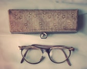 Grandmother's Glasses - Mid-Century Eye Glasses and Case Photography Print