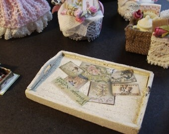 1 12th scale shabby chic tray