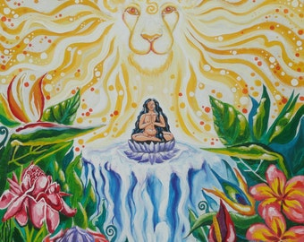Place of Being, Gouache on canvas, 2013, Visionary Art