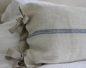 Custom Vintage French Grain Sack Body Pillow Sham