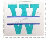 Split Lincoln Machine Embroidery Alphabet - 4 Sizes