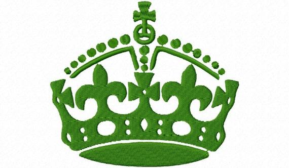 Fleur De Lis Crown Machine Embroidery Design - 3 Sizes ...