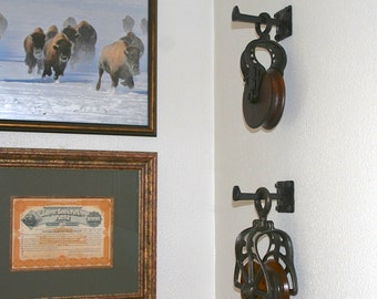Metal wall hook, 2 - 5 inches long, western home decor, screws incl. MADE TO ORDER