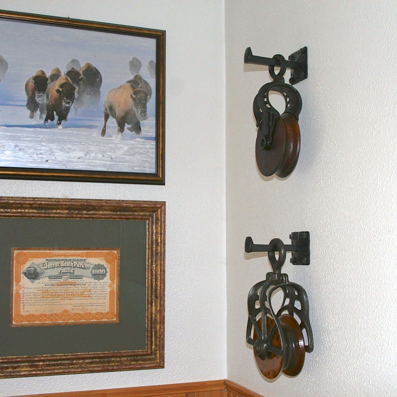 Long Metal Wall Decor : Metal wall hook inches long western home decor screws