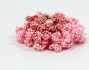 Crochet Brooch PDF pattern Crochet Flower brooch Pattern Dahlia flower Pin Crochet Brooch Crochet Flower Pin Crochet Flower Brooch