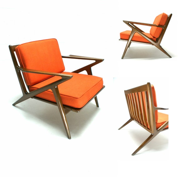 Mid Century Chair: The 60s Mid Century Modern Danish Selig Poul Jensen Z Chair