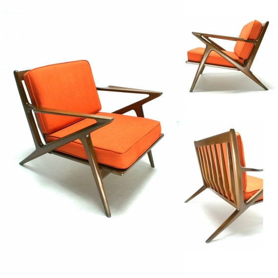 The 60s mid century modern danish selig poul jensen z chair for Z chair mid century