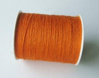 FULL SPOOL - 1mm Orange Jute Twine (400 Yards)