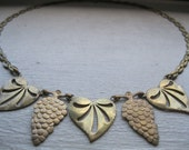 SALE/ Antique West germany grapes and leaves necklace