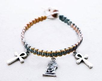 Cleopatra Bracelet - Hemp Jewelry - Egyptian Culture